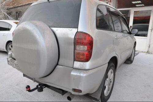Фаркоп оцинкованный Toyota RAV4 2000-2006, Chery Tiggo 2006-2014, Vortex Tingo 2010-2013 быстросъемное крепление шара - Фото