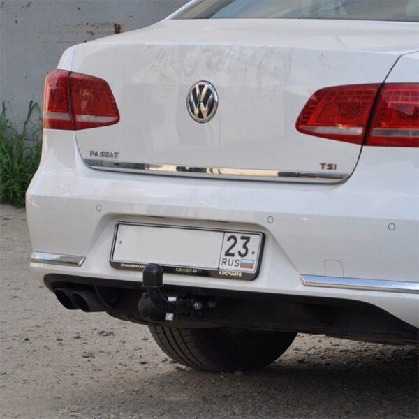 Фаркоп оцинкованный Volkswagen Passat B8 седан/универсал 08/2014-, в т.ч. Alltrack B8 2015-, Skoda Superb 3 седан/универсал 03/2015- условно-съемное крепление шара - Фото
