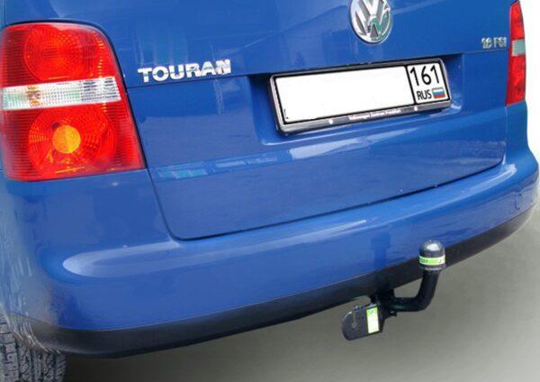 Фаркоп оцинкованный Volkswagen Touran 2002-2015 условно-съемное крепление шара - Фото
