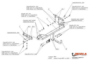 Фаркоп Subaru Forester 2008-2013 условно-съемное крепление шара