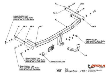 Фаркоп Volkswagen Touran 2003-2015 условно-съемное крепление шара